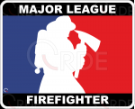 "Naklejka drukowana ""Major League Firefighter"""