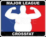 "Naklejka drukowana ""Major League Crossfat"""