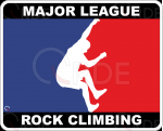 "Naklejka drukowana ""Major League Rock Climbing"""