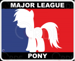 "Naklejka drukowana ""Major League Pony"""