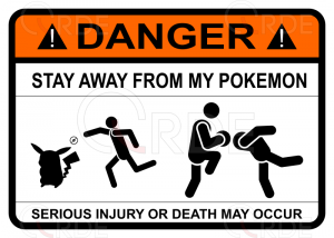 "Naklejka drukowana ""Stay away from my pokemon"""