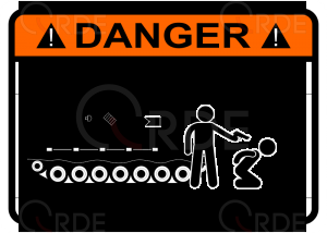 "Naklejka drukowana ""Stay away from my tank"""