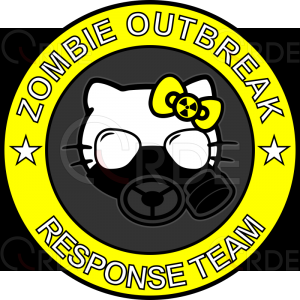 "Naklejka drukowana ""Kitty Outbreak Response Team"""