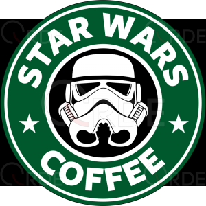 "Naklejka drukowana ""Star Wars Coffee"""