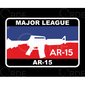 "Naklejka drukowana ""Major League AR-15"""