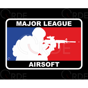 "Naklejka drukowana ""Major League Airsoft"""