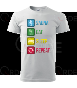 "Koszulka ""Sauna, Eat, Sleep, Repeat"""