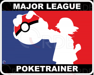 "Naklejka drukowana ""Major League Poketrainer"""
