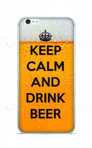 "Pokrowiec na telefon ""Keep Calm and Drink Beer"""