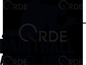 "Naklejka wycinana ""Paintball Addict Ahead"""